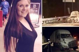 18岁女孩开车时直播惨遭卡车碾压身亡 网友目睹全程